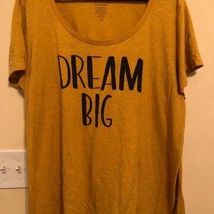 Mustard Dream Big t-shirt